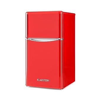 Klarstein Monroe Red 2019 Edition - Nevera con congelador ...