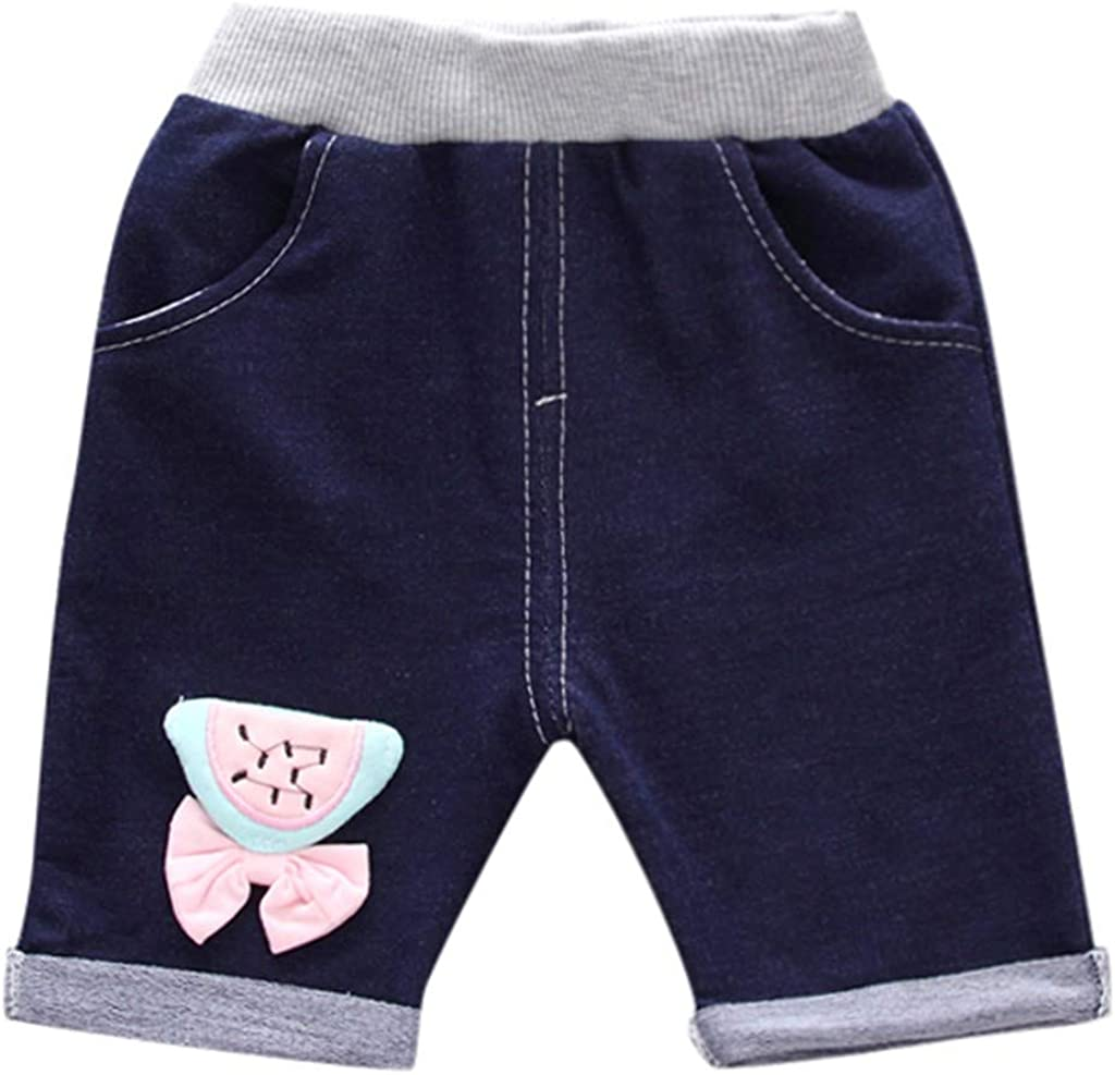 Denim Shorts Summer Outfit Set Kehen Toddler Baby Infant Girl Clothes Watermelon T-Shirt