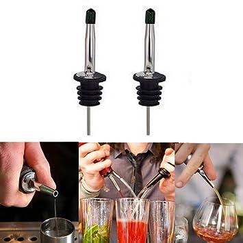 2pcs Whisky Licor Aceite Agua vertedor de vino tapón Party Bar dispensador de botella vertedor de