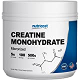 Nutricost Creatine Monohydrate 500G - 100 Servings, 5000mg Per Serv - Pure Micronized Creatine Monohydrate