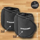 Stronger-Ankle-Weights-Set-2x5lbs-Cuffs-Train-Like-A-Model-At-Home-Workout-Equipment-for-Slimming-Thighs-Toning-Glutes-More