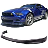 R Style 3 PCS Splitter Spoiler Valance Chin Injection PP by IKON MOTORSPORTS Front Bumper lip Compatible With 2013-2014 Ford Mustang V6 GT