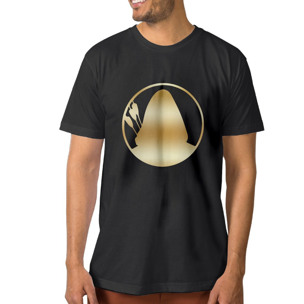 Amazoncom Green Arrow Gold Logo Black Mens T Shirts