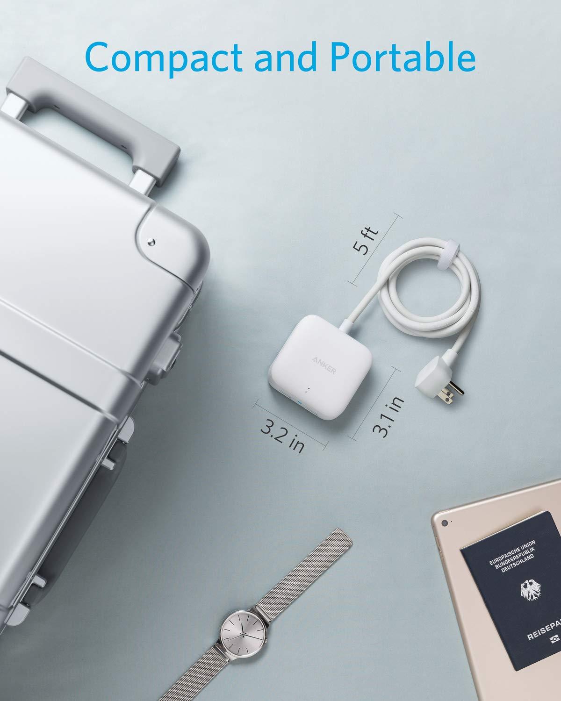 Anker Power Strip with USB 2 Outlet  2 PowerIQ USB Ports 24W Travel Power Strip Powerport Strip 2
