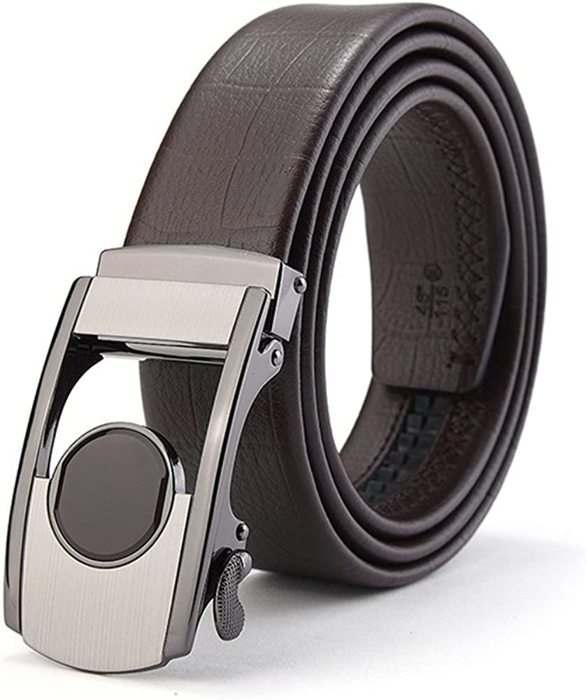 Adjustable,High-End Comfortable,Work Clothes Uniforms,A,115 Leather Automatic Buckle,Work Active Basic Leather,Casual Formal Belts XUEXUE Mens Belt