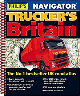 Truck Maps Uk Philip's 2019 Navigator Trucker's Britain: Spiral (Philips Road