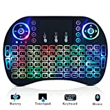 Mini Wireless Keyboard Backlit and Touchpad Mouse Combo for Smart TV Google Android Box Xbox One KODI XBMC Multi-media Player PC PAD - Remote Controller Handheld QWERTY Gaming Keyboards with LED Light