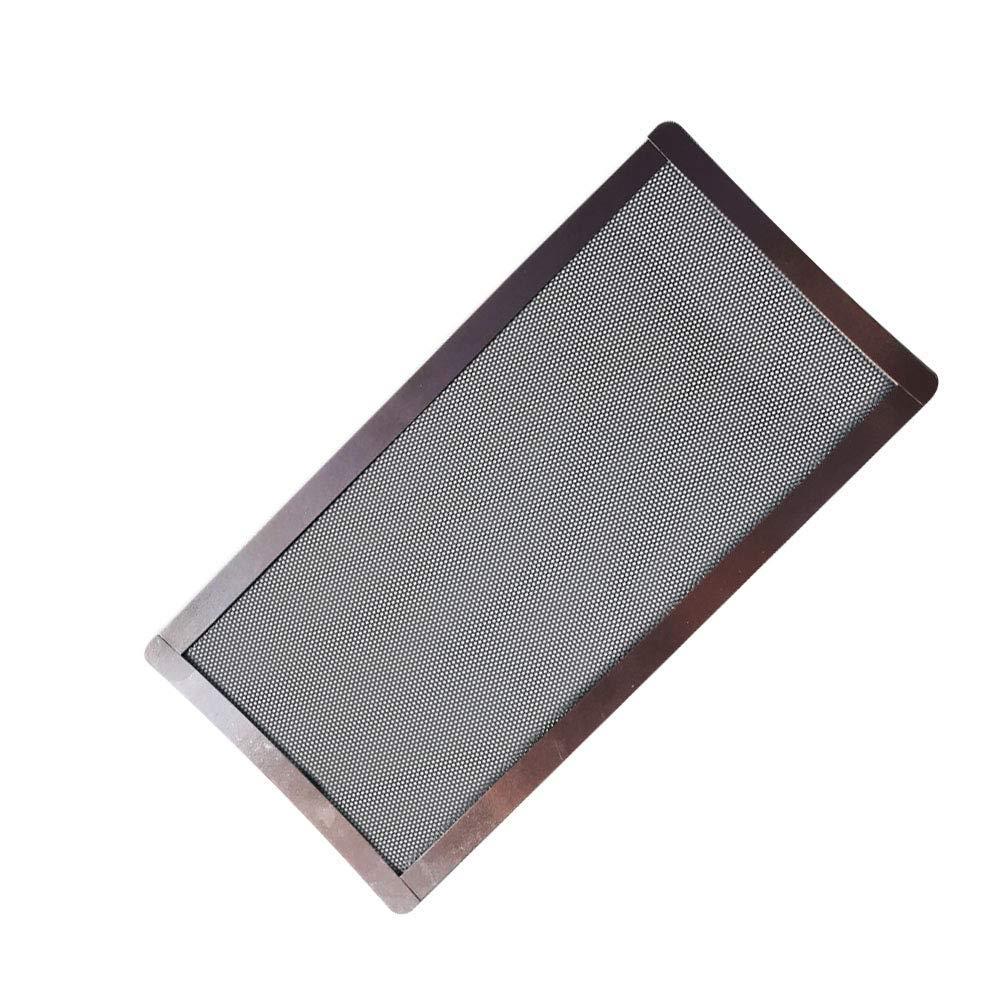 Matedepreso Filtro de Polvo a Prueba de Polvo Protector PC Ventilador Cubierta Repuesto Ordenador Malla Magnético - Negro, Free Size
