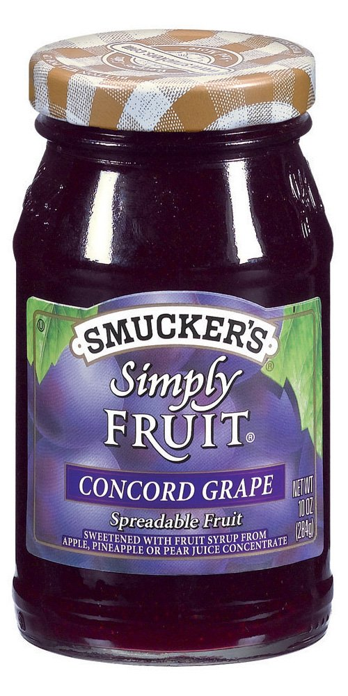 Smucker's  Simply Fruit  Concord Grape Spreadable Fruit, 10-Ounce (Pack of 6)