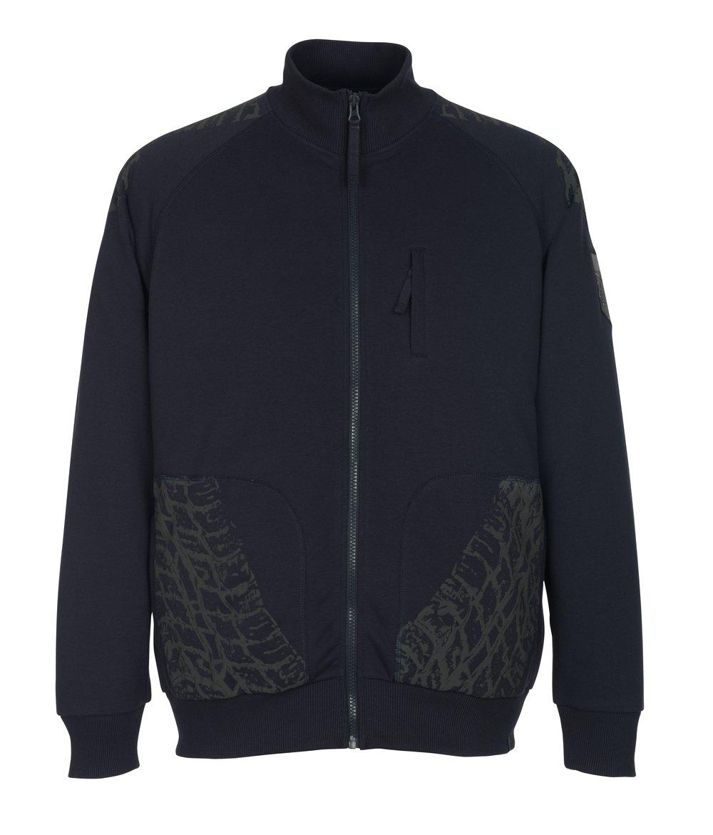 Mascot Sweatshirt mit Reißverschluss Belfort, 1 Stück, 3XL, schwarz-blau, 50549-830-010-3XL