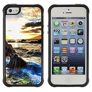 Pulsar Defender Series Tpu silicona Carcasa Funda Case para Apple iPhone 5 / iPhone 5S , Sunset Beautiful Nature 29