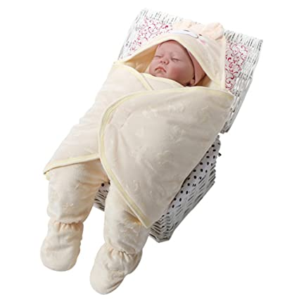 Recién nacido bebé doble uso Swaddle Blanket- suave Unisex cochecito de osos regla saco de