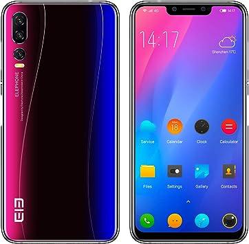 ELEPHONE A5 Smartphone Libre - 6.18FHD + súper-Vista Pantalla Ultra Delgada, teléfono móvil con Android 8.1, Helio P60 6GB + 128GB, AI 5 cámara (cámara Frontal de 20MP + 2MP): Amazon.es: Electrónica
