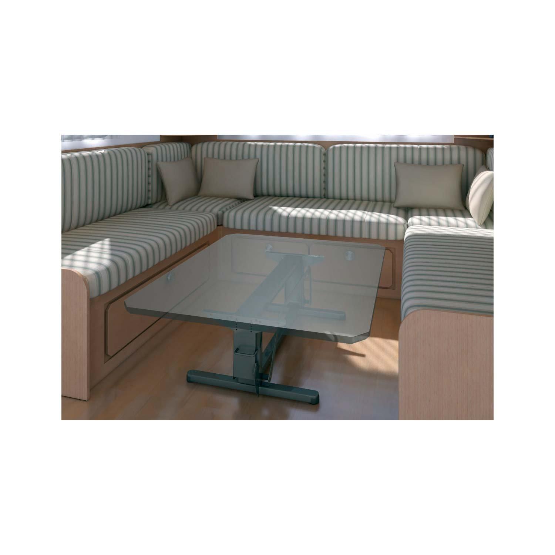 Narbonne Accessoires Pied de Table Automatique 2 Positions Gris