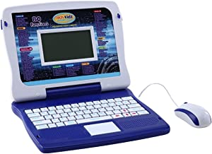 Tech Kidz My Exploration Toy Laptop Educational Learning Computer, 80 Challenging Learning Games and Activities, LCD Screen, Keyboard and Mouse Included (Blue), Ages 5+