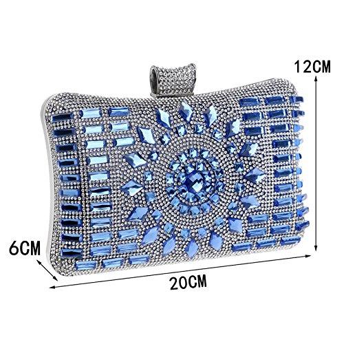Sac Dames à Silver à Femmes Prom Robe Pochette Diamond Main Main Banquet Soirée Party Sac zzpqPfx