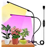 Plant Grow Light, Full Spectrum Dual-Head 60 LED Clip-on Plant Lamp for Indoor Plants Seedlings Succulents,3 Modes & 5-Level