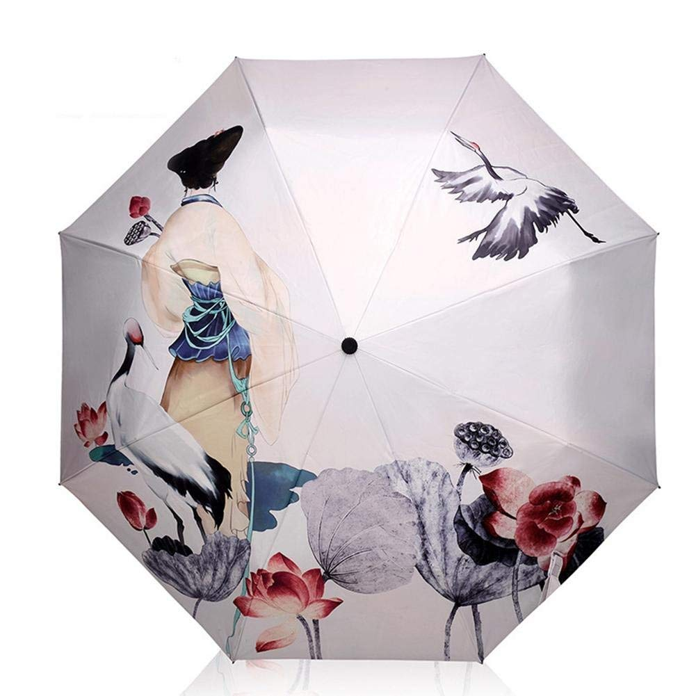 Sun Umbrella Multi Umbrella Travel Umbrella 8 Ribs Kimono and Hok Sturdy Portable Stainless Steel Construction Fast Drying Folding Waterproof Umbrella for Women, Men, Children and Kids Portable Umbrel