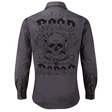 Road Rodeo Rockabilly Mechanic Work Shirt Longsleeve Rock N Roll