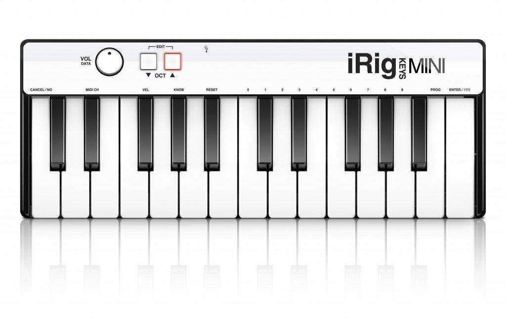 IK Multimedia iRig Keys Mini 25-Key Universal Keyboard Controller for iPhone, iPad, Android and Mac/PC IP-IRIG-KEYSMINI-IN