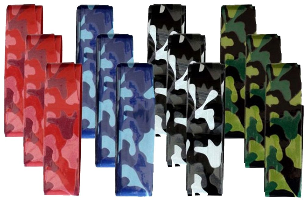 12 Overgrip Pros Pro Camouflage Tennis Grips