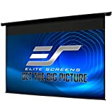 "Elite Screens 128"" Spectrum Electric Motorized Projector Screen with Multi Aspect Ratio Function Diag 16:10 & 124-inch…"