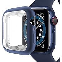 Miimall Kompatybilny z Apple Watch Series 6/SE/5/4 44 mm etui z ochroną wyświetlacza, matowy kolor AllAround etui…