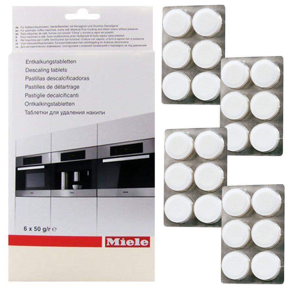 Tabletas de la máquina de café de Miele descalcificador (24 unidades): Amazon.es: Hogar