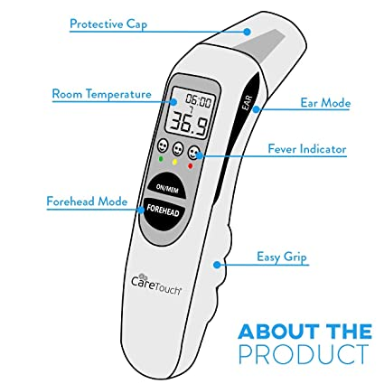 Amazon.com: Care Touch Digital Thermometer - Infrared Ear & Temporal Forehead Fever Thermometer for Baby Kids and Adult, Multi Function Medical Thermometer ...