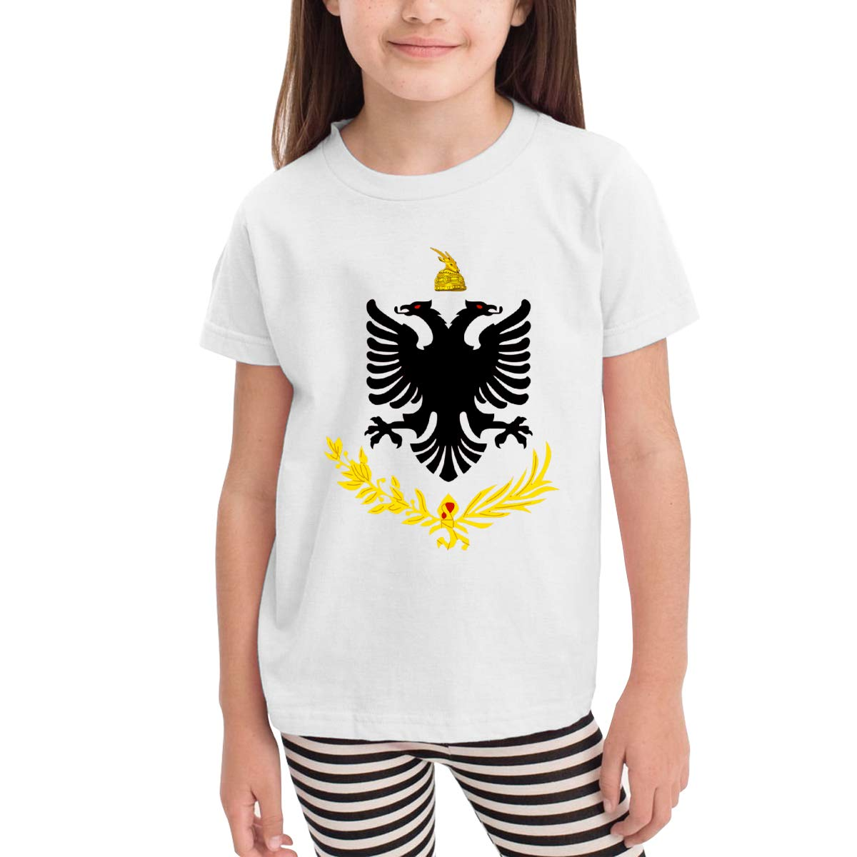 Albanian Eagle 100/% Cotton Toddler Baby Boys Girls Kids Short Sleeve T Shirt Top Tee Clothes 2-6 T