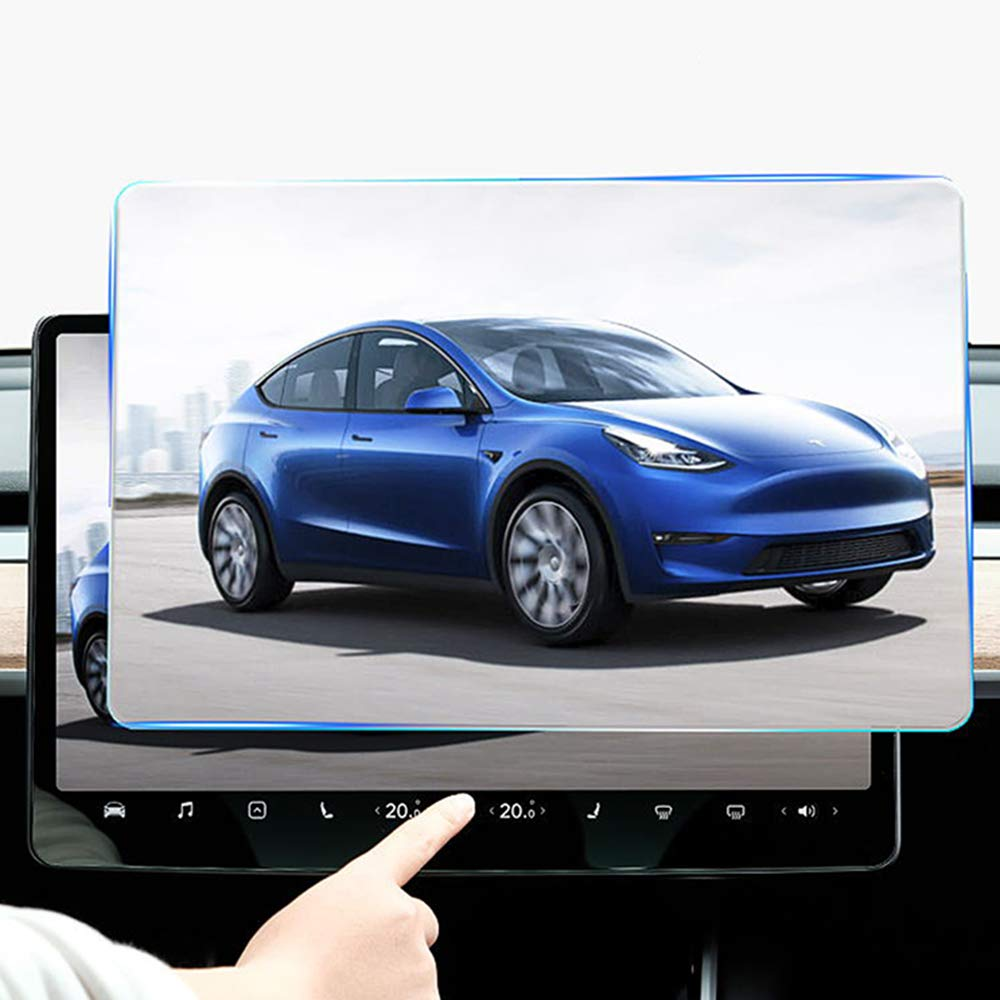 Hildirix Touch Screen Protector Car Navigation Touch Screen Tempered Glass Protector Tempered Glass Anti-Scratch for Tesla Model 3