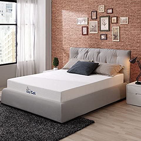 LazyCat Memory Foam Tea Infused Mattress with 2 Free Pillows 8 inch Full Mattress - 2 Free Mattresses