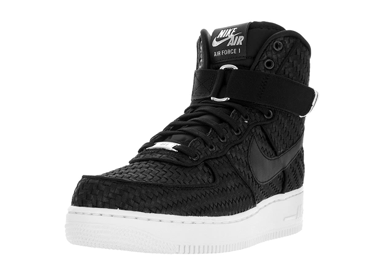 Nike AIR FORCE 1 HIGH '07 LV8 WOVEN mens basketball-shoes 843870-001_8 -  BLACK/BLACK-WHITE