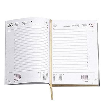 recambio de Agenda 2019 diaria 15 x 21 cm con bordes Oro ...