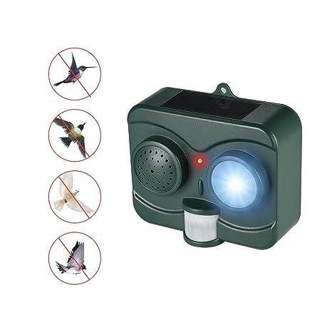 Decdeal Ahuyentador de Animal de Sonido con Sensor de Movimiento PIR para Aves, Murciélagos,