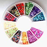 120-PcsBright Popular 3D Random Mixed Fimo Nail Art Wheel Polymer Clay Slices Colorful Decoration Salon Supplies Type Butterfly
