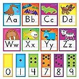 Trend Enterprises Awesome Animals Manuscript Alphabet Bulletin Board Set (T-8265)