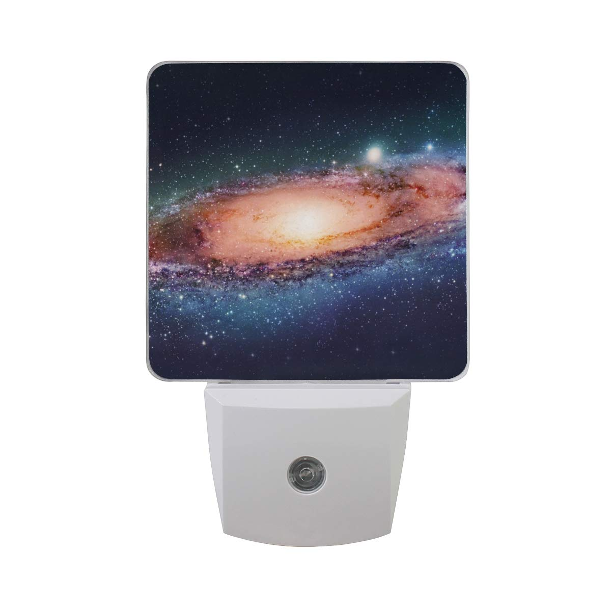 Night Light Space Galaxy Best Led Light Lamp for Hallway, Kitchen, Bathroom, Bedroom, Stairs, DaylightWhite, Bedroom, Compact