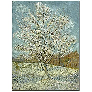 amazon com wieco art the pink peach tree by van gogh famous oil