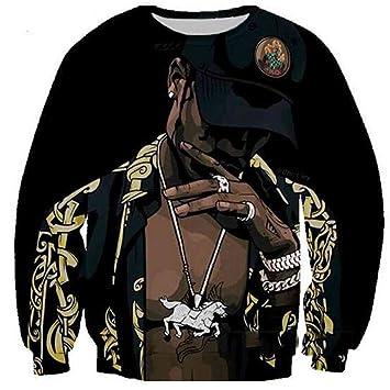 MOIMK Unisex Vida Rap Hip-Hop 2Pac Artista Tupac Rap Sudaderas con Capucha 3D impresión Ropa Sudadera Pullover,XXXXL: Amazon.es: Deportes y aire libre