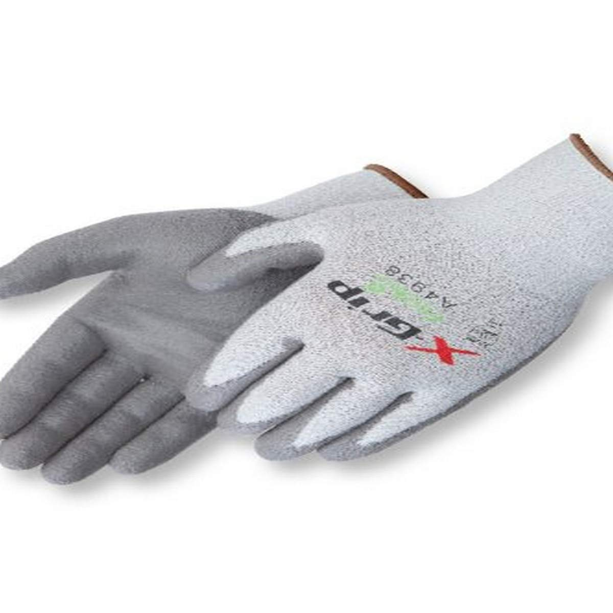 Liberty X-Grip Polyurethane Palm Coated Glove with 13-Gauge Wooltran Polyester Shell, Cut Resistant, Large, Gray (Pack of 12)