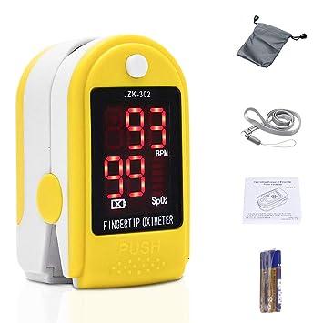 Oxímetro de dedo, monitor de frecuencia cardíaca, sensor de saturación de oxígeno en sangre