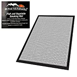 Masterbuilt Fish and Vegetable Mat for 30 inches Smoker Non Stick Silicone Coated Fish Jerky Vegetables Most Small Food Dishwasher Safe 2 Pieces