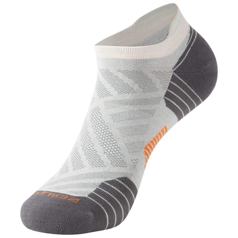 Low Cut Cycling Socks, ZEALWOOD High Performance 3 Pairs Antibacterial Wicking Low Cut Athletic Running Cushion Sports Socks for Men & Women 3 Pairs,Grey by ZEALWOOD (Image #3)