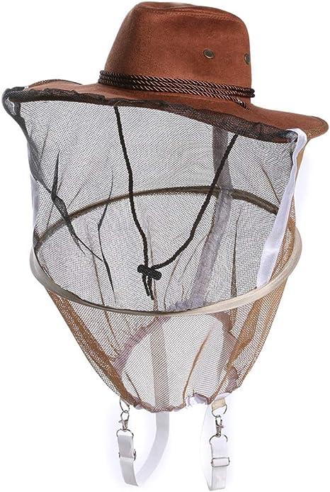 Beekeeping Beekeeper Cowboy Hat Mosquito Bee Insect Net Face Head KIUS