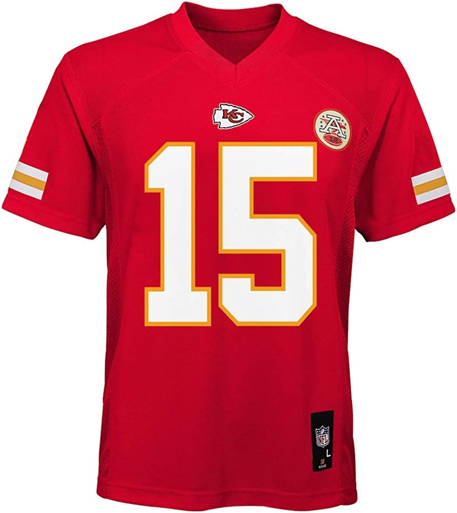 Outerstuff Patrick Mahomes Kansas City Chiefs NFL Kids 4-7 Red Home Mid-Tier Jersey
