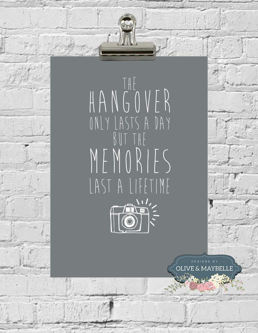 Olive & Maybelle Print Wall Art Quote stylish image