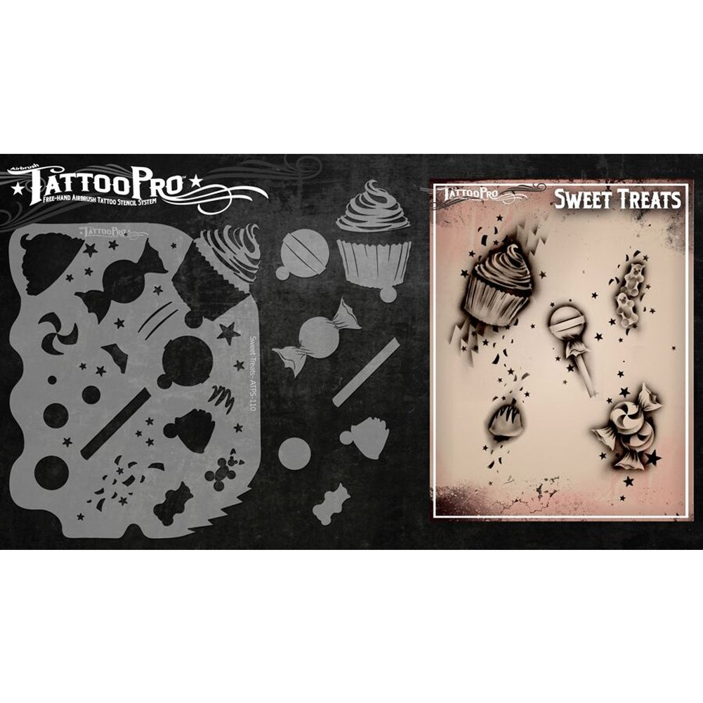 c149e0d45 Amazon.com: Tattoo Pro Stencils Series 1 - Roses & Scrolls