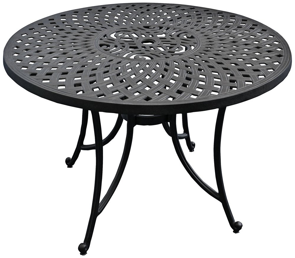 amazoncom crosley furniture sedona 42inch solidcast aluminum outdoor dining table black kitchen u0026 dining