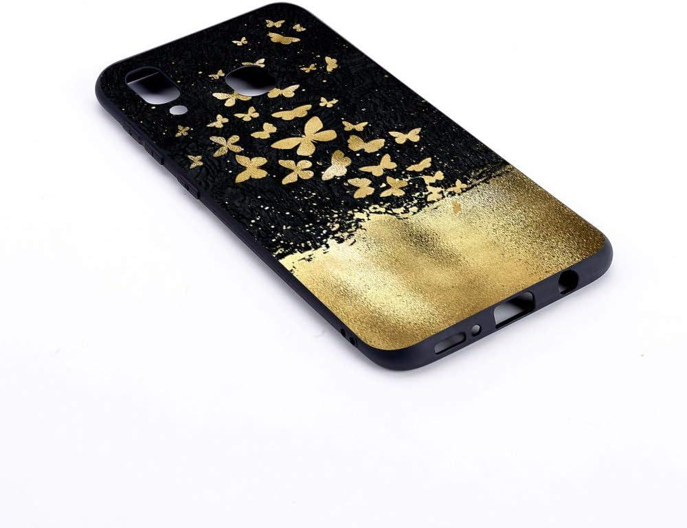 D/ünn Silikonh/ülle Bumper Sto/ßfest Slim Case Schutzh/ülle Soft Cover 1 ChoosEU kompatibel mit Samsung Galaxy A40 2019 H/ülle Silikon Muster Schwarz Handyh/ülle f/ür M/ädchen Frau Mann